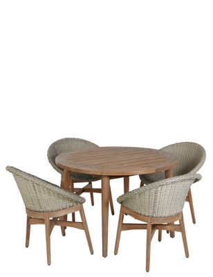 The Capri Teak Table 4 Chairs From Marks And Spencer S Range