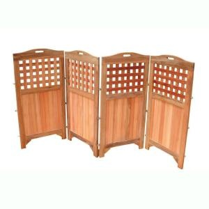 4-panel wood outdoor privacy screen from Home Depot - $299.00