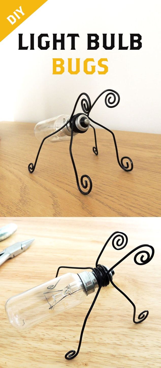 Very simple steps behind making a bug-like creature by recycling a light bulb! So cute!