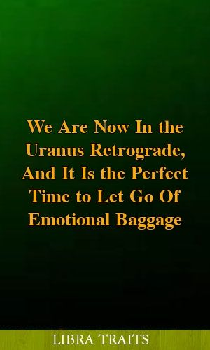 We Are Now In the Uranus Retrograde, And It Is the Perfect