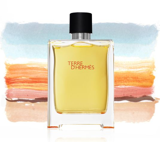 Terre d'Hermès    The history of an alchemic journey through the elements: earth, air and water. A woody, vegetal and mineral eau de toilette.