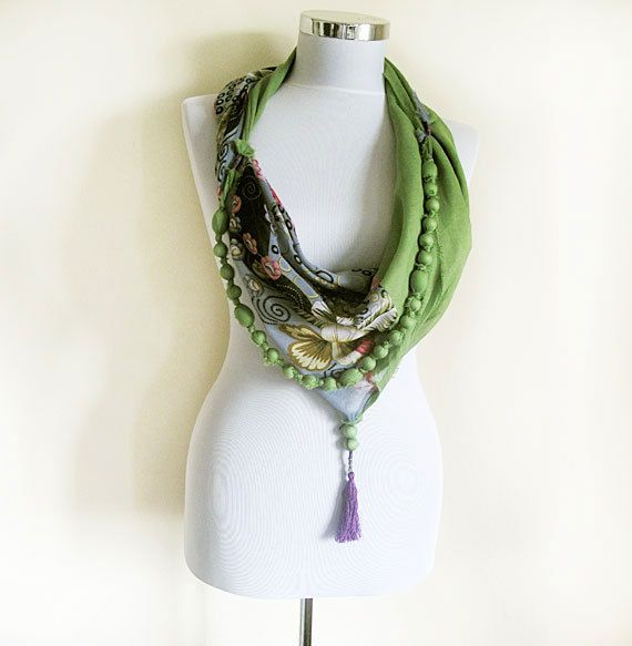 Infinity scarf, Accessories for Women, Jewelry Scarves, Woman , Fashion Scarf, Fashion Accessories, Green, Gray, and More Colors, Unique on Etsy, $29.00
