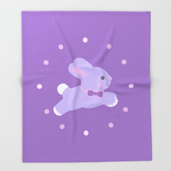 """20% OFF + Free Shipping on EVERYTHING!!!  Buy """"Baby Bunny Girl"""" Throw Blanket Wonderful gift for your baby or you children's room. #babybunny #babygifts #kidsroom #kidsifts #discount #gifts #save #sales #society6 #throwblanket #blanket #babyshowergifts #buygifts #giftsforbabies #onlineshopping #bunny #cute"""