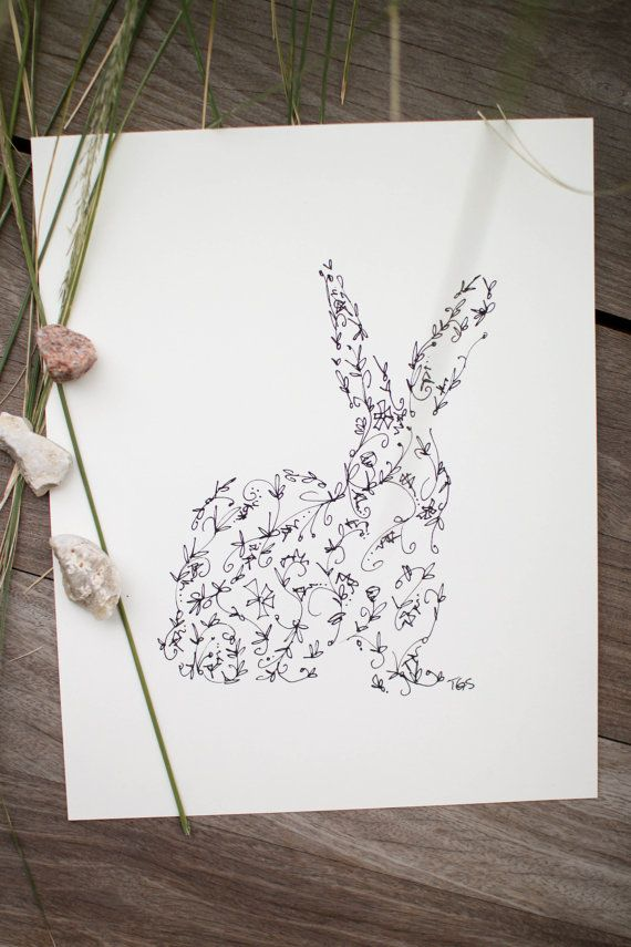 Rabbit Silhouette - Ginably
