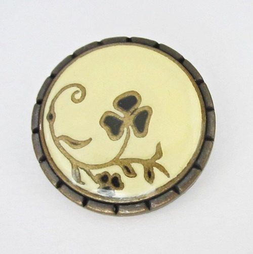 Metal buttons  3 enameled metal buttons  bronze by chicbuttons