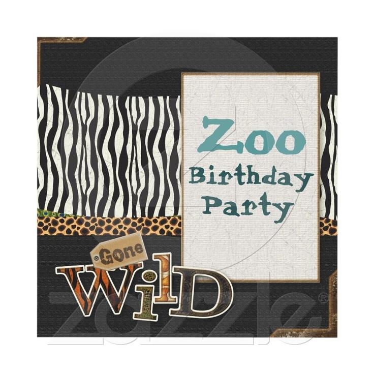 wedding renewal invitation ideas%0A Zebra print Safari Birthday Party Invitation  would take off the Zoo part   love the