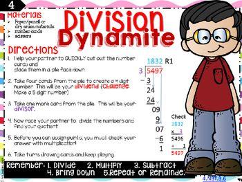 Long Division Center Grade 4