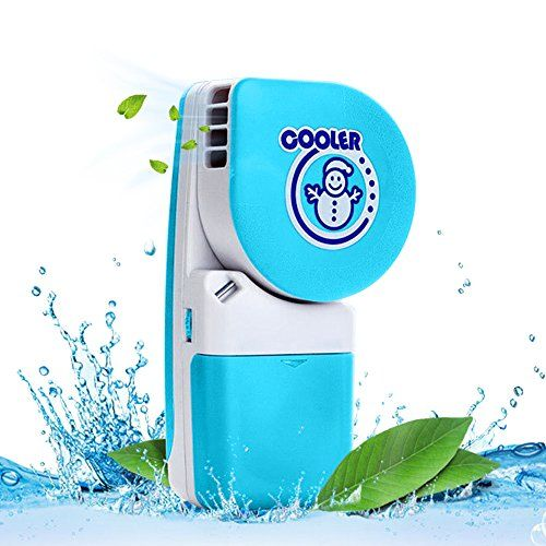 LUCKSTAR Handheld Cooler Fan – Small Fan Mini-Air Conditioner Speed Adjustable Summer Cooler Fan With Water Bottle Powered by Batteries or…