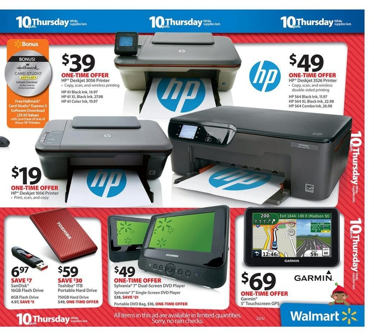 60$ hard drive Walmart Black Friday Flyer 2012 Page 26