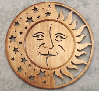 Scroll Saw Pattern -  love the Moon and stars