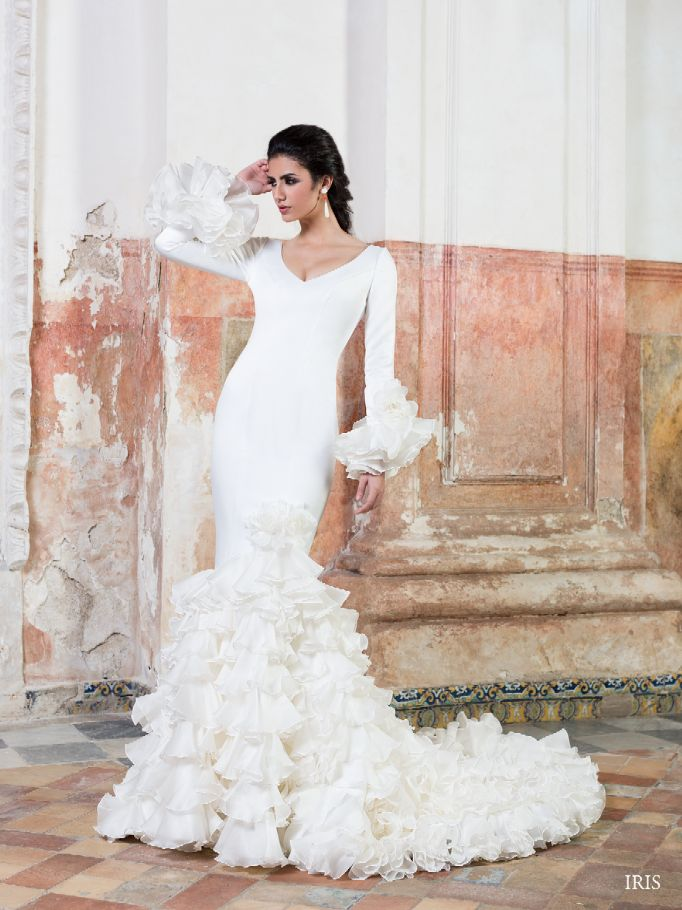 36a6e6529  Vestido de  novia con corte sirena