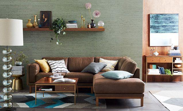 plush polished living room west elm living room pinterest. Black Bedroom Furniture Sets. Home Design Ideas