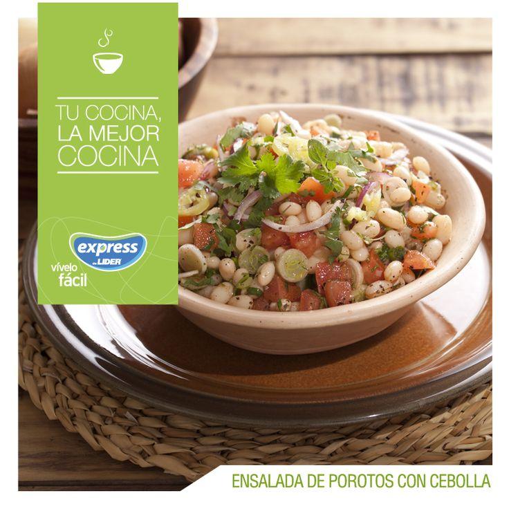 Ensalada de porotos con cebolla. #Recetario #Receta #RecetarioExpress #Salad #Lider #Food #Foodporn #18Septiembre #Feliz18 #18 #FiestasPatrias #Septiembre