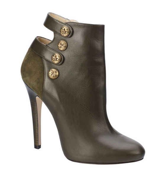 Jimmy Choo Fall 2013 Talma Olive Green Ankle Boot.