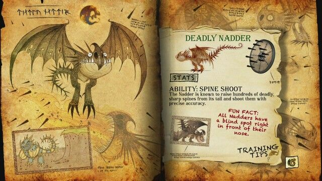 Book Of Dragons Deadly Nadder Page How To Train Your Dragon Pinterest And