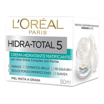 Crema facial LOréal Paris  hidra total  5 humectante matificante 50 ml