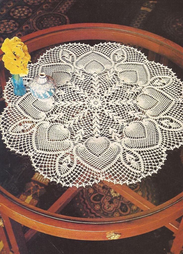 Mejores 108 im genes de tapetes a crochet en pinterest - Centros de mesa de ganchillo ...