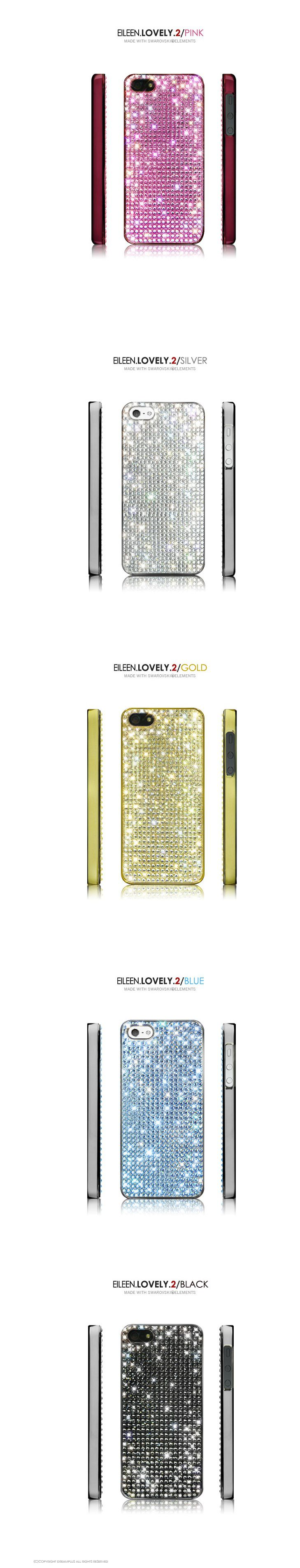 Eileen Lovely 2 phonecase for iphone 5. Premium Crystal decorated case.