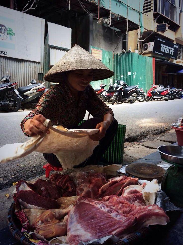 Street meat vendor @ Vietnam