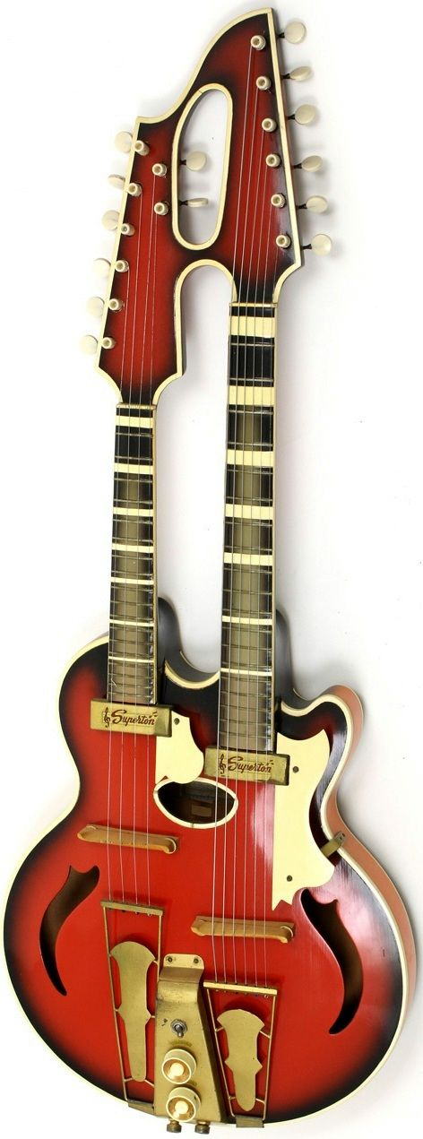 17 best images about musical instraments gretsch 1961 superton double neck mandolin guitar