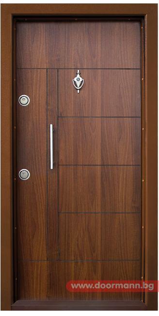 Блиндирана входна врата - Код T587, Цвят Златен Дъб