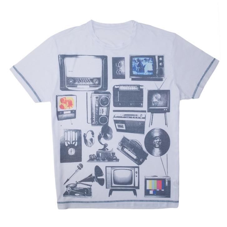 Camiseta objetos branca
