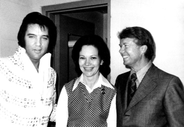 Elvis Presley, First Lady Rosalynn Carter and President Jimmy Carter