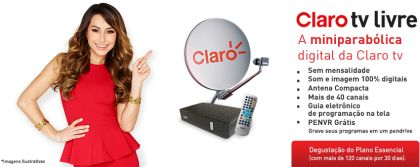 Kit Antena Parabólica Digital Claro TV Livre