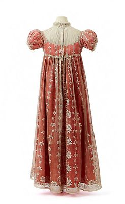 Town dress with chemisette owned by Empress Josephine, First Empire