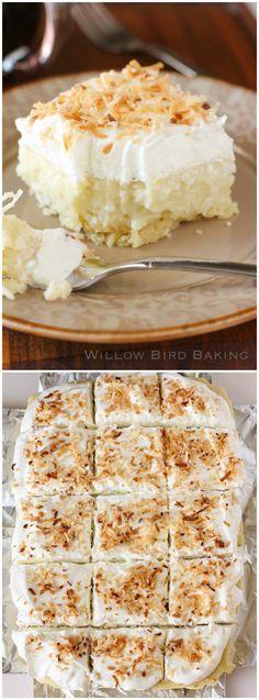 Coconut Cream Pie Bars http://willowbirdbaking.com/2014/03/01/coconut-cream-pie-bars/