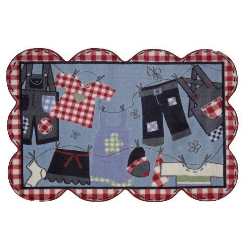 """Clothes On Clothesline Area Rug 39""""x58"""" by FindingKing. $104.99. Perfect for use in your bathroom, living room, kid's room or as a door mat. It is made of 100% nylon and measures approximately 39"""" x 58"""" (99.06 x 147.32 cm). This is a new clothes on clothesline extra high pile area rug. Clothes On Clothesline Extra High Pile Area Rug 39""""x58""""      This is a new clothes on clothesline extra high pile area rug    Perfect for use in your bathroom, living room, kid's ro..."""