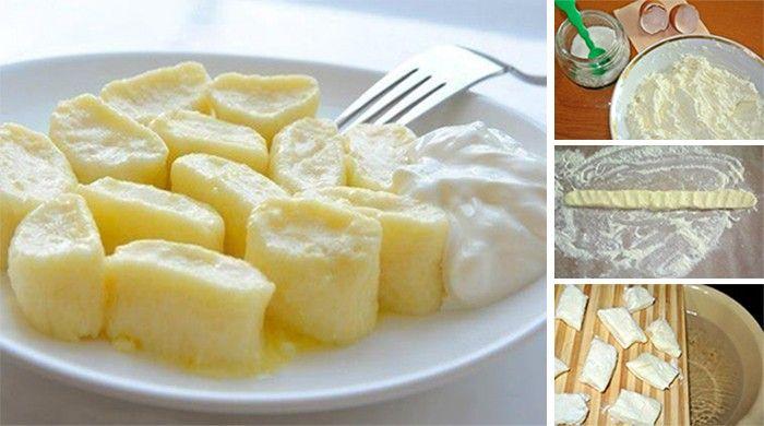 Jemné tvarohové knedlíky, které můžete podávat jako přílohu nebo jako hlavní jídlo se sladkou omáčkou.