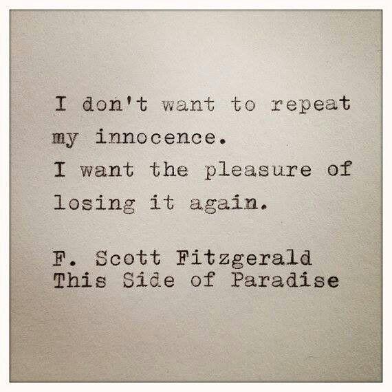 I Don't Want / F Scott Fitzgerald