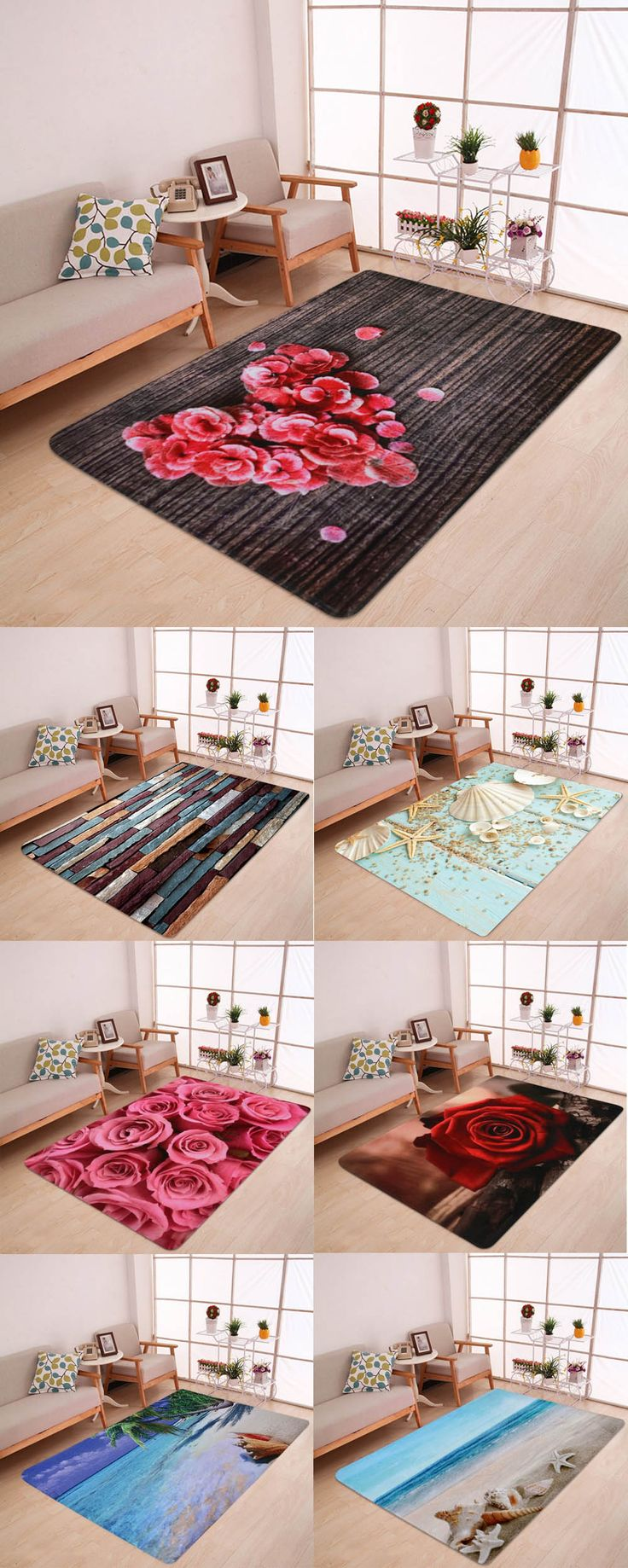 99e8407349749efba7fd071ee386a61e - Up to 80% off, Rosewholesale valentines day Water Absorption Area Rug - Red Brow...