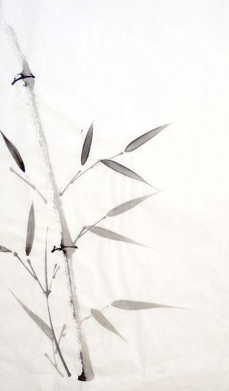 ❋ Aquarelle - Watercolor - Aquarela ❋  Chinese Ink Bamboo