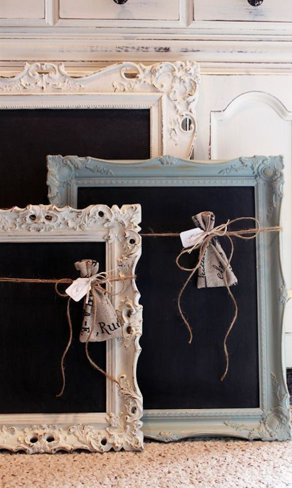 a diy painted chalkboards from old frames - Diy Framing