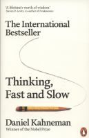 Thinking, Fast and Slow by Daniel Kahneman. This volume by Nobel Prize winner Kahneman puts together his influential thoughts about two systems that drive the way we think – fast, and slow.