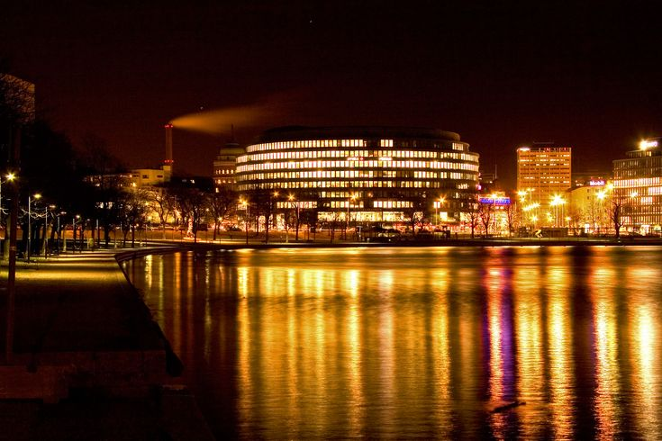 Helsinki-at-night.jpg (3456×2304) #helsinki
