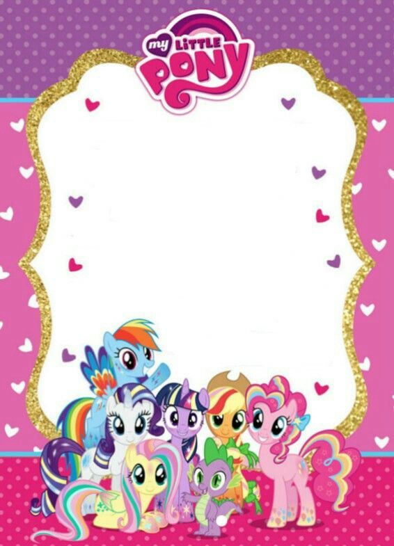 My Little Pony Invitation Idea My Little Pony Birthday My Little Pony Invitations Little Pony Birthday Party