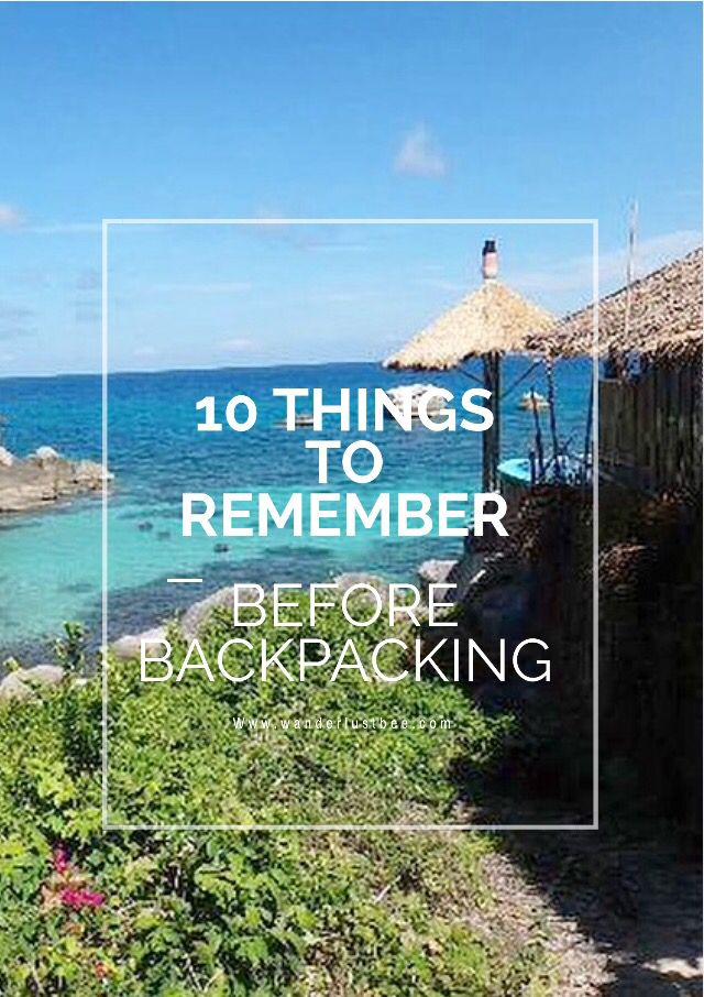10 things you need to arrange before you head off backpacking wherever it is. My specific trip was to Thailand and Laos. Click and make sure you don't forget anything ...
