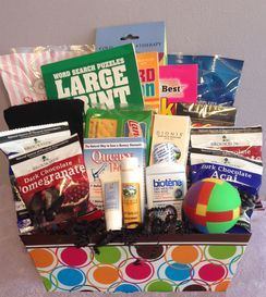 Rock the Treatment chemotherapy gift basket for men.