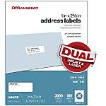 Office Depot Brand White InkjetLaser Shipping Labels 2 x 4 Pack Of 250 by Office Depot