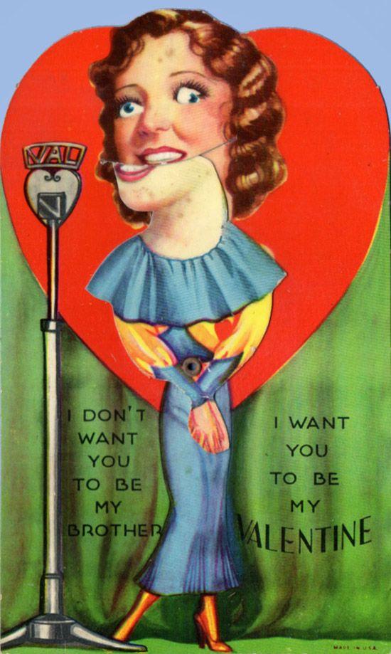 Perfekt 34 Vintage Creepy Valentines Day Cards For Crazy Romantics