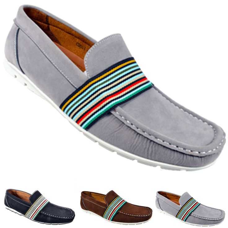 MEN'S CASUAL SLIP ON ITALIAN LOAFERS CASUAL MOCCASIN SHOES SIZE UK 6 7 8 9 10 11