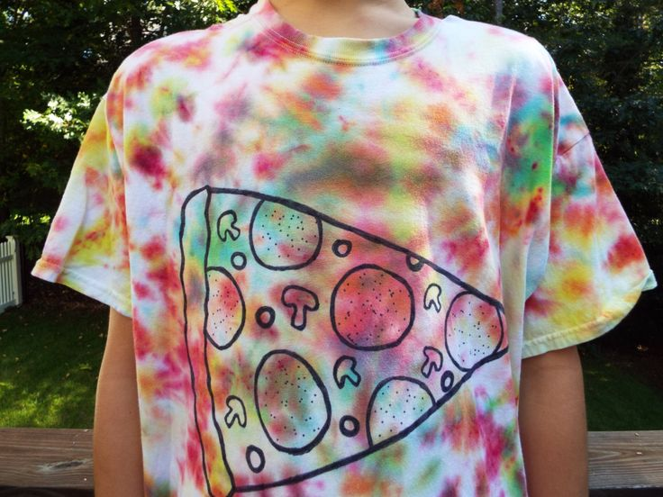 Tie Dye Pizza Tshirt XL Pizza Lover Pizza by CreationsbyMaris