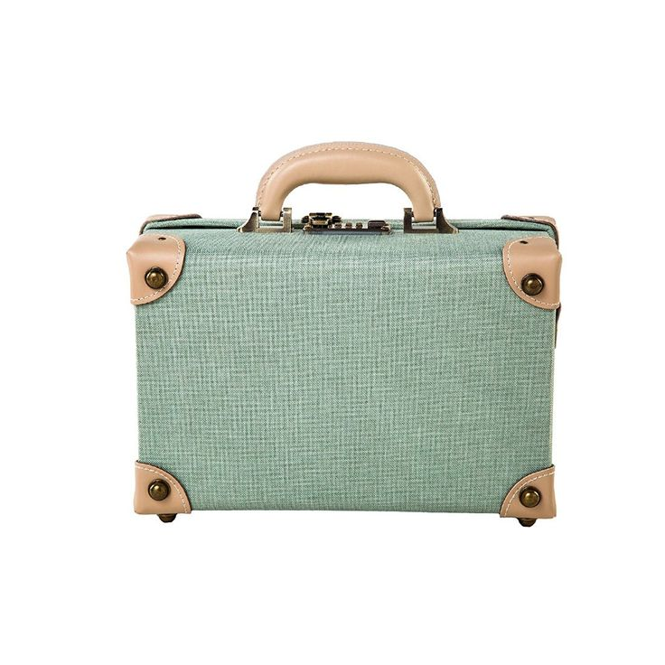 """Amazon.com   12"""" Women Genuine Leather Small Carry On Luggage for Girls (Green)   Carry-Ons"""