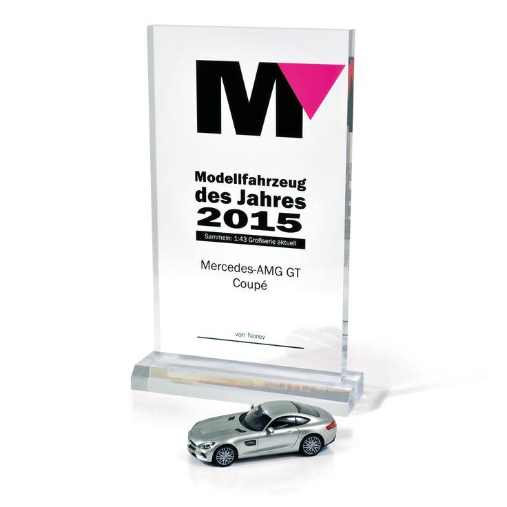 """NOREV has been rewarded for its 1:43 'Mercedes-AMG GT' scaled model by Modellfahrzeug / NOREV a été récompensé pour son modèle au 1:43 de la """"Mercedes-AMG GT"""" par le magazine Modellfahrzeug."""