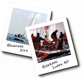 Racing Northern European waters.   Bluenose (X'99)  & Bierkaai (Lutra '40)