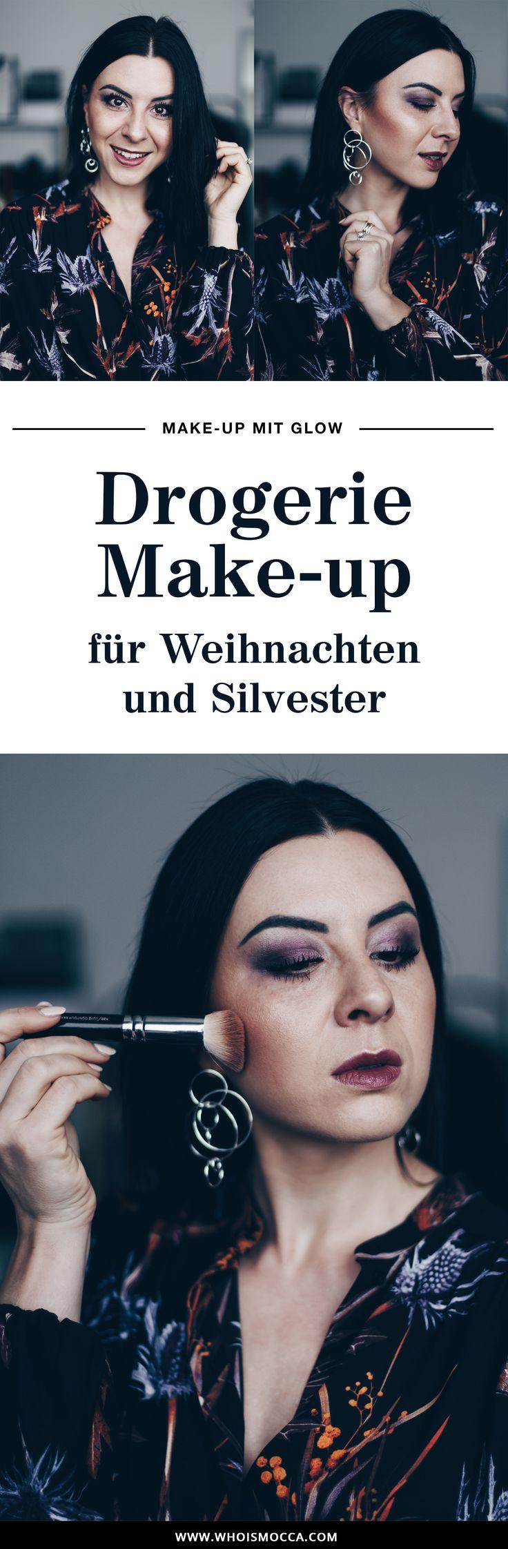 festliches Drogerie Make-up mit Glow für Weinachten und Silvester, Make-up für Feiertage, perfektes Make-up, Beauty Blog, Produkttest, Catrice, Essence, L.O.V. Makeup, www.whoismocca.com