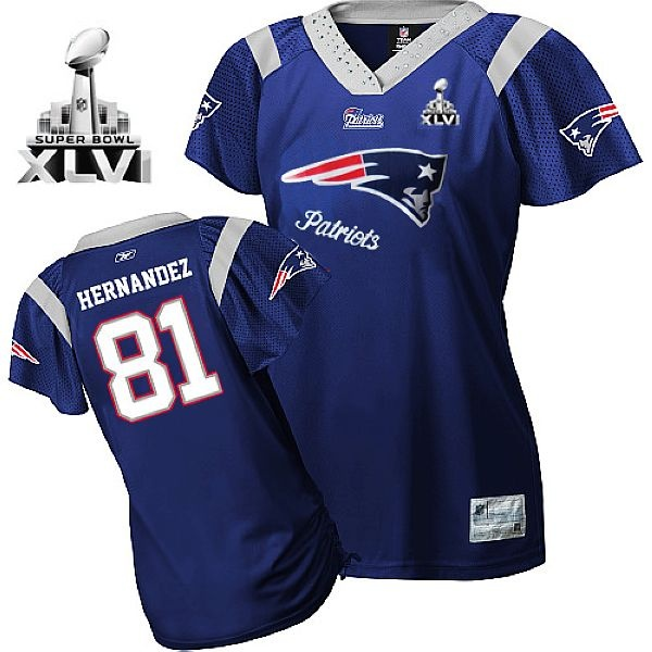 2469eb2af New England Patriots Rob Gronkowski 2011 Women Blue Field Flirt 2012 Super  Bowl Jersey. Find this Pin and ...